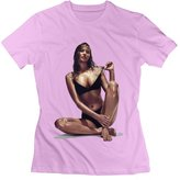ZaNACo Jennifer Lawrence T-shirt L For Women Cotton