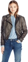 Blu Pepper Women's Faux Leather Jacket