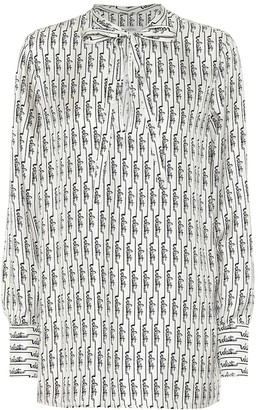 Valentino Logo silk blouse