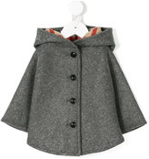Burberry buttoned cape