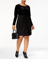 MICHAEL Michael Kors Size Velvet Mix Twist Dress