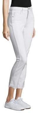 Amo Babe Raw Hem Straight-Leg Jeans
