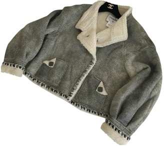 Chanel Grey Fur Leather jackets