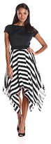 Julian Taylor Women's Twofer Dress with Striped Skirt