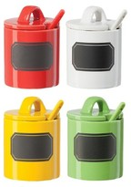 Oggi 4-pc. Condiment Set with Spoons & Chalkboard Decal
