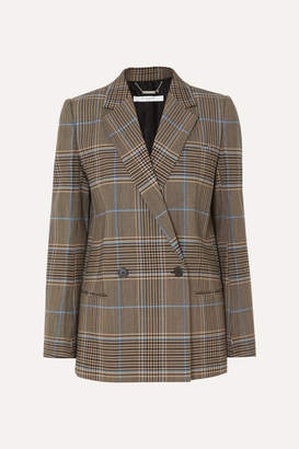 Givenchy Double-breasted Checked Wool-blend Blazer - Beige