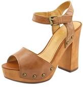 Very Volatile Terza Women Open Toe Leather Brown Platform Sandal.