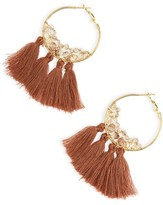 Panacea Women's Tassel Hoop Earrings