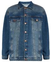 Raey Displaced-sleeve oversized denim jacket