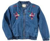 Girl's Peek Madison Embroidered Bomber Jacket