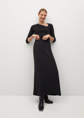 MANGO Slit long skirt