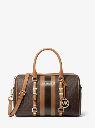 MICHAEL Michael Kors Bedford Travel Medium Logo Stripe Satchel