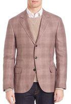 Brunello Cucinelli Plaid Linen-Blend Blazer