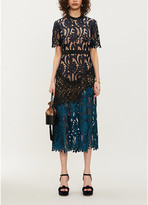 Self-Portrait Self Portrait Prairie floral-embroidered midi dress