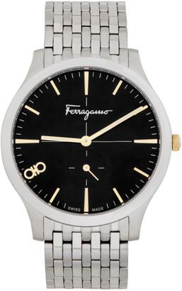 Salvatore Ferragamo Silver Slim Watch
