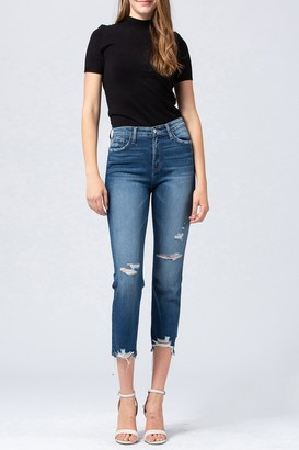 Vervet By Flying Monkey Faria Distressed Crop Straight Jeans