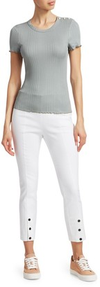 Rag & Bone Simone Snap-Hem Crop Pants