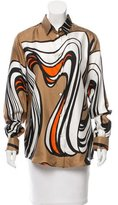 Dolce & Gabbana Silk Abstract Top w/ Tags
