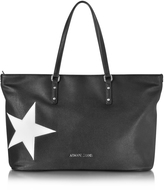 Armani Jeans Black Eco Leather Tote w/Star