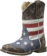 Roper Western Boots Boys USA Flag 09-017-0903-0103 BU