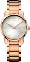 Calvin Klein City rose gold PVD watch