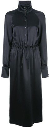 Fleur Du Mal Button Up Turtle Neck Dress