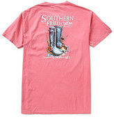 Southern Fried Cotton Mens Dancin' in the Rain Graphic Pocket Tee