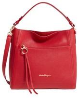 Salvatore Ferragamo Small Ally Leather Hobo - Red