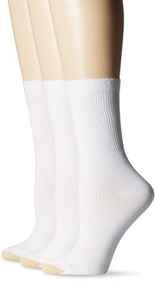 Gold Toe Women's Non-Binding Extended Size Rib Crew Sock