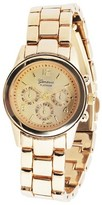 Geneva Platinum Women's Classy Round Face Polished Link Watch - Assorted Colors