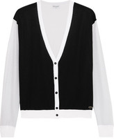 Vionnet Color-Block Cotton-Blend Cardigan