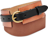 Fossil Colorblock Leather Waist Belt