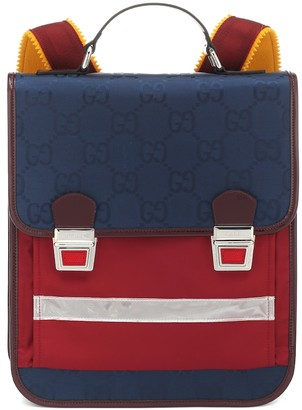 Gucci Kids GG jacquard and leather backpack