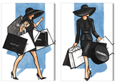 Oliver Gal So Many Bags (Canvas) (Set of 2)