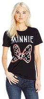 Disney Women's Minnie Mouse Neon Bow T-Shirt