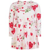 Pink Floral Hearts Jersey Dress
