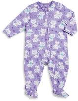 Little Me Non-Slip Cat-Print Footie Pajamas