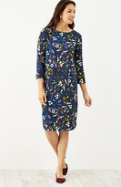 J. Jill Boat-Neck Floral Dress