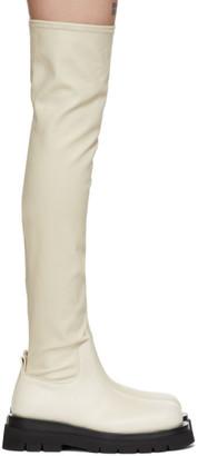 Bottega Veneta Off-White OTK Combat Tall Boots