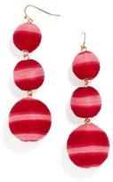 BaubleBar Striped Crispin Ball Drop Earrings