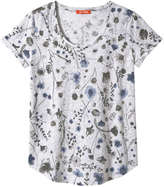 Joe Fresh Women's Print Slub tee, Ash Grey (Size XS)