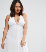 Asos Jersey Ruched Halter Mini Beach Dress