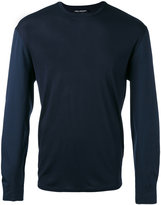 Neil Barrett crew neck jumper - men - Cotton/Polyamide/Spandex/Elastane/Viscose - L