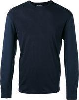 Neil Barrett crew neck jumper - men - Cotton/Polyamide/Spandex/Elastane/Viscose - M