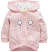 Ladybird Baby Girls Stripe Mouse Hoodie