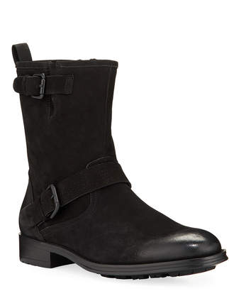 Kenneth Cole Men's Rugged Leather Moto Boots