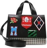 MSGM MULTI PATCH Handbag black/white