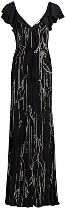 Amen Beaded Silk Gown
