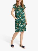 Seasalt River Cove Short Sleeve Floral Print Mini Dress, Pastel Foliage Green