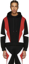 Neil Barrett Black Panelled Modernist Retro Hoodie